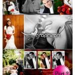 دانلود مجموعه قاب عکس لایه باز زیبای طراحی آلبوم عروس – بخش دوم