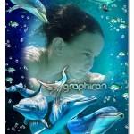 قاب عکس کودک PSD لایه باز با طرح دنیای زیر آب و دلفین های زیبا