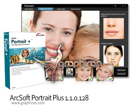 ArcSoft Portrait Plus 1.1.0.128 دانلود برنامه روتوش چهره ArcSoft Portrait Plus 1.1.0.12 Portable