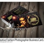 Creative Fashion Photographer Business Card PSD 150x150 دانلود طرح لایه باز بروشور عکاسی فشن آماده و بسیار زیبا