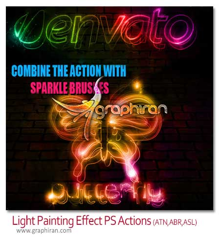Light Painting Effect Photoshop Actions