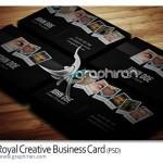 Royal Creative Business Card 150x150 کارت ویزیت خلاقانه با ظاهر برجسته PSD لایه باز – شماره ۲۸۹