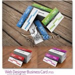 دانلود کارت ویزیت طراح وب سایت Web Designer PSD Business Card