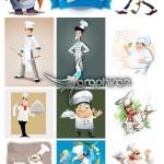 دانلود مجموعه بی نظیر تصاویر وکتور سرآشپز Chef iStock Vector
