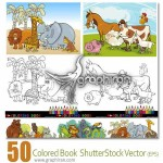دانلود مجموعه تصاویر کتاب رنگ آمیزی کودکان در فرمت وکتور EPS