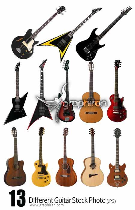 guitar stock photo دانلود مجموعه عکس استوک انواع گیتار الکتریک، آکوستیک و کلاسیک