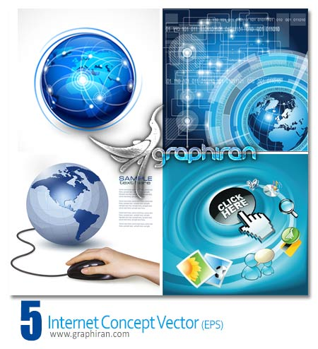 وکتور اینترنت internet vector