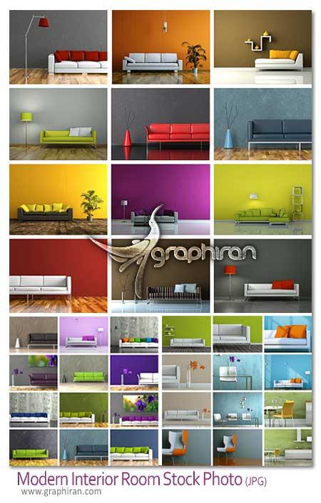 modern interior stock photo دانلود تصاویر استوک طراحی مدرن دکوراسیون داخلی اتاق و مبلمان