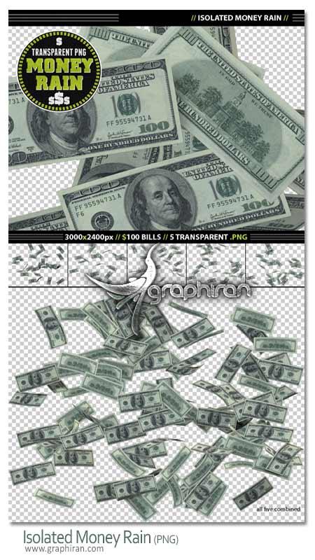 money PNG دانلود مجموعه تصاویر اسکناس 100 دلاری با پس زمینه شفاف