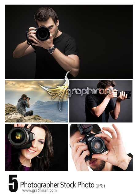 عکس استوک عکاس و دوربین عکاسی