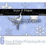 دانلود براش فتوشاپ دانه برف Snow Flakes Photoshop Brush