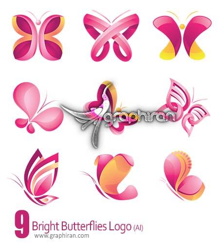 دانلود لوگو به شکل پروانهلوگو پروانه