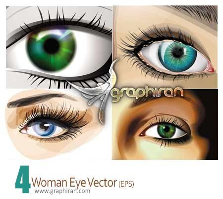وکتور چشم زن