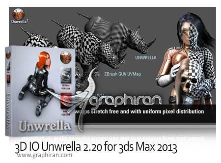 3D IO UNWRELLA 2.20 for 3DS MAX 2013