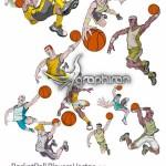 دانلود وکتور تصاویر بازیکنان بسکتبال کارتونی و بسیار زیبا