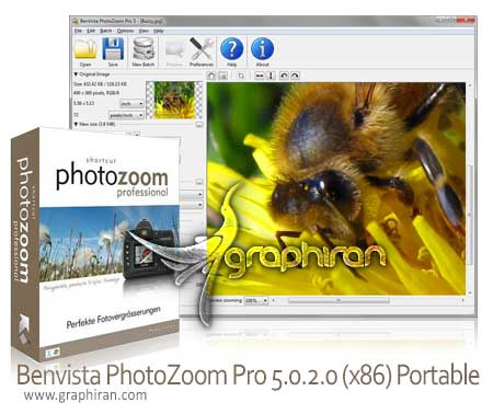Benvista PhotoZoom Pro 5.0.2.0 Multilingual افزایش سایز عکس بدون افت کیفیت Benvista PhotoZoom Pro 5.0.2.0 Portable