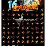 Photorealistic Explosion Brushes 150x150 اکشن فتوشاپ افکت انفجار بوکه Bookeh Explosion Photoshop Action