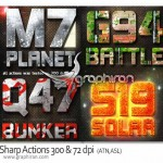 Sharp Actions 300 72 dpi 150x150 دانلود مجموعه افکت های جذاب و خیره کننده متن برای فتوشاپ