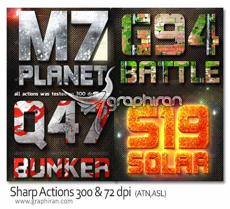 Sharp Actions 300 & 72 dpi