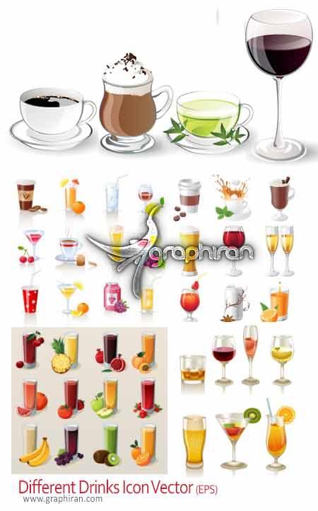 وکتور انواع نوشیدنی