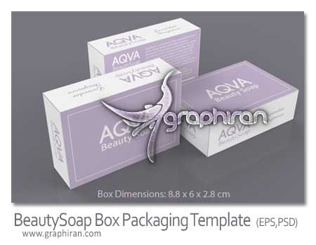 BeautySoap Box Packaging Template دانلود قالب بسته بندی صابون BeautySoap Box Packaging Template