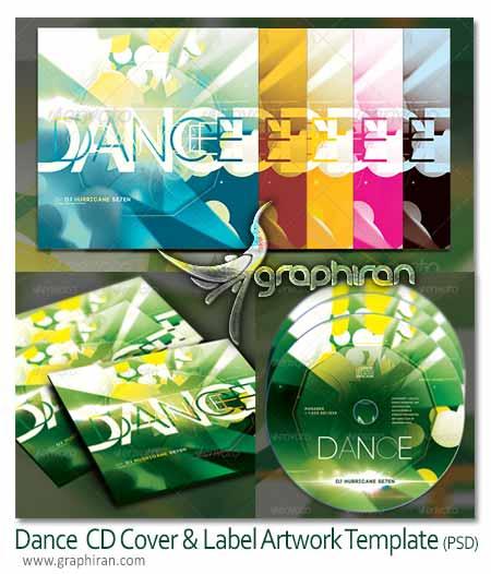 CD Cover Artwork Template دانلود طرح آماده لیبل و کاور CD حرفه ای به صورت PSD لایه باز