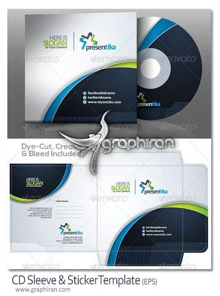 CD Sleeve Sticker دانلود طرح گرافیکی آماده طرح لیبل و ساخت جلد CD و DVD