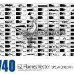 دانلود ۷۴۰ طرح وکتور شعله آتش در فرمت های EPS، AI، CDR و DXF
