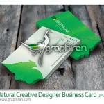 دانلود نمونه کارت ویزیت خلاقانه PSD با موضوع طبیعت – شماره ۱۰۵