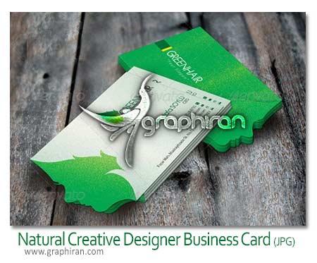 Natural Creative Designer Business Card دانلود نمونه کارت ویزیت خلاقانه PSD با موضوع طبیعت   شماره 105