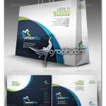 دانلود طرح و الگوی ساخت ساک خرید کاغذی Shopping Bag Template
