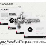 دانلود قالب و تم پاورپوینت شرکتی آماده Agency PowerPoint Template