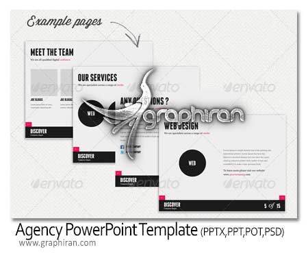 agency Style PowerPoint Template دانلود قالب و تم پاورپوینت شرکتی آماده Agency PowerPoint Template