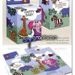 دانلود الگوی بسته بندی کالاهای کودکان Baby Product Box Template