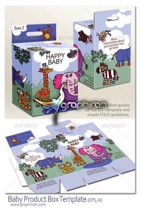 الگوی بسته بندی محصولات کودکان
