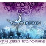 دانلود براش دایره ای و گلدار فتوشاپ Decorative Photoshop Brush