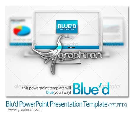 powerpoint template دانلود قالب آماده PowerPoint با تم رنگی آبی و کیفیت HD