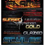 style1 150x150 دانلود مجموعه افکت های جذاب و خیره کننده متن برای فتوشاپ