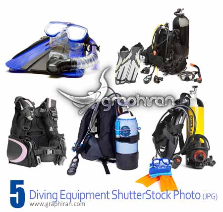 Diving equipments تصاویر شاتراستوک لوازم غواصی Diving Equipments ShutterStock Photo