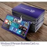 دانلود کارت ویزیت با تم ویندوز ۸ مناسب کافی نت و خدمات کامپیوتر
