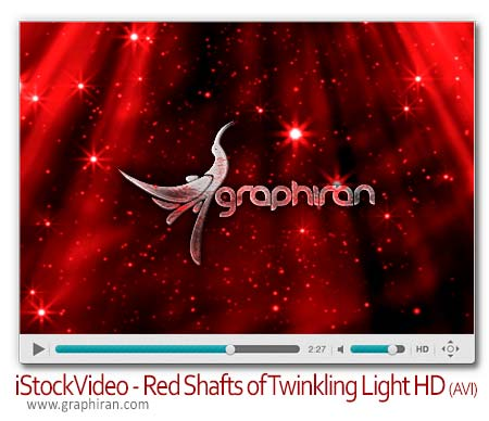 Red shafts of twinkling light