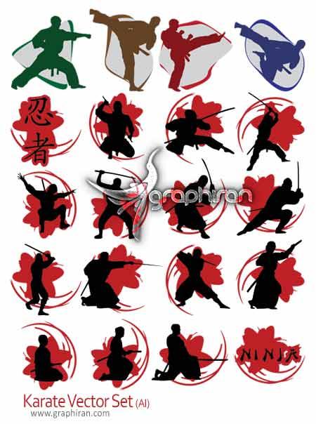 تصاویر وکتور با موضوع ورزش کاراته