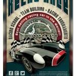 دانلود طرح پوستر لایه باز مسابقات اتومبیل رانی به سبک قدیمی