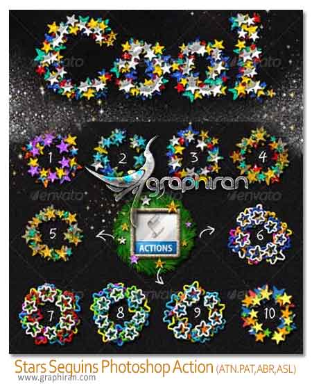 stars glitter action generator