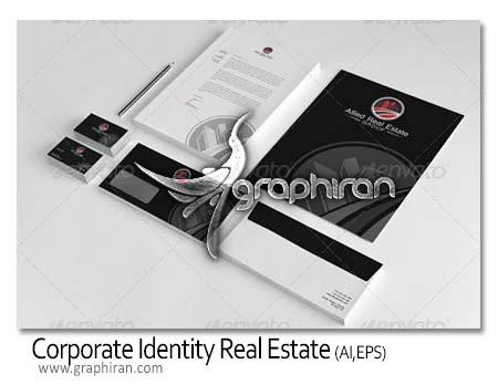 Corporate Identity Allied Real دانلود طرح آماده و لایه باز ست اداری مشاورین املاک