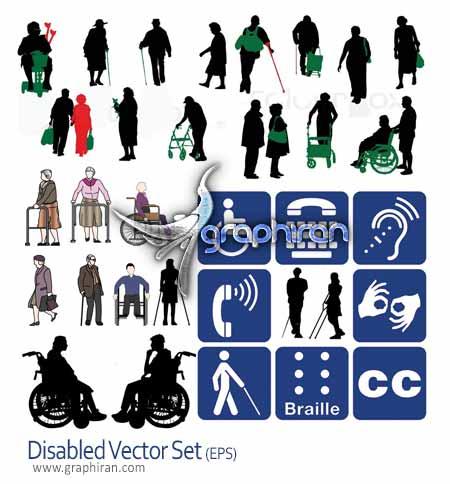 تصاویر وکتور افراد معلول