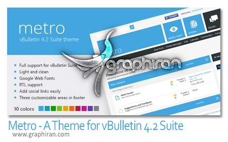 Metro A Theme for vBulletin 4.2 Suite