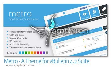 Metro A Theme for vBulletin 4.2 Suite
