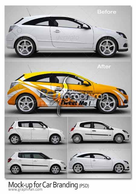 Mockup for car branding