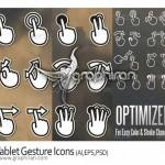 دانلود آیکون های اشارات دست در کار با تبلت Tablet Gesture Icons